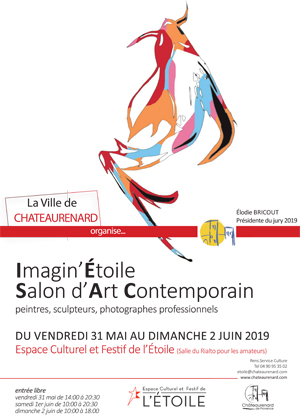 Affiche expo Louis bonifassi au Salon professionnel d'art contemporain maginetoile 2019