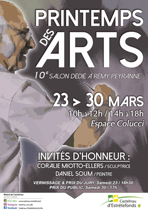 Affiche expo Louis Bonifassi - 11 EME PRINTEMPS DES ARTS