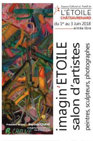 Affiche expo Louis bonifassi au Salon professionnel d'art contemporain maginetoile 2018