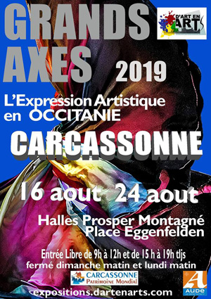 Affiche expo Louis Bonifassi - Grands Axes