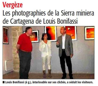 Article expo De sang et d'or, Midi libre du 29 octobre 2015